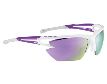 ALPINA EYE-5 HR S CM+ - occhiali white-purple/purple