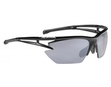 ALPINA EYE-5 HR S CM+ - occhiali black matt/black mirror