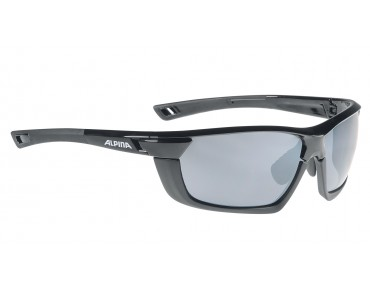 ALPINA TRI-SCRAY MULTIFRAME - occhiali black matt/black mirror