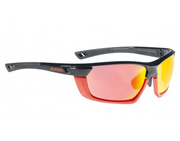 ALPINA TRI-SCRAY MULTIFRAME - occhiali black-red/red mirror