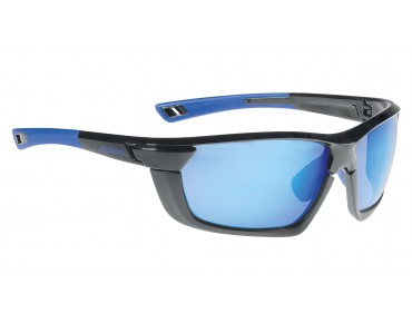 ALPINA TRI-SCRAY MULTIFRAME - occhiali black-blue/blue mirror