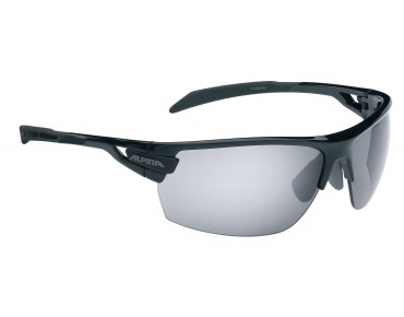 ALPINA TRI SCRAY sports glasses black/black mirror