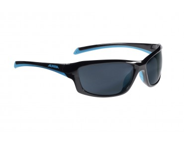 ALPINA DYFER sports glasses black-cyan/black mirror