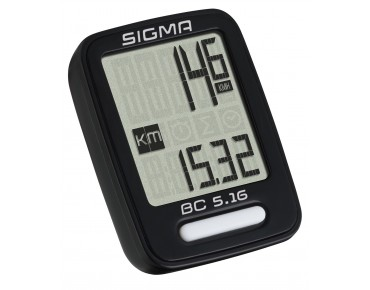 Sigma BC 5.16 bike computer - wired - black