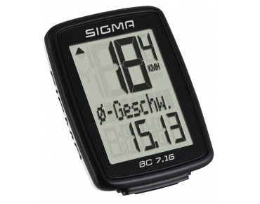 Sigma BC 7.16 bike computer -wired- black/white