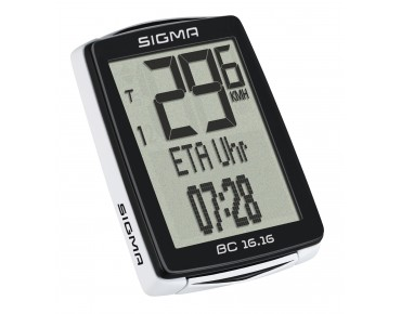 Sigma BC 16.16 bike computer – wired – black/white