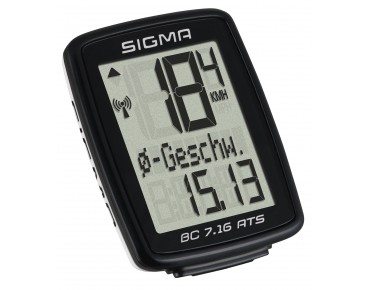Sigma BC 7.16 ATS bike computer - wireless – black/white