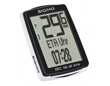 Sigma BC 16.16 STS bike computer – wireless – black/white