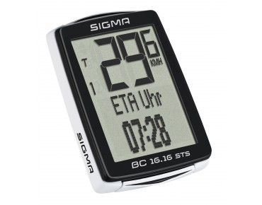 Sigma BC 16.16 STS CAD bike computer – wireless – black/white