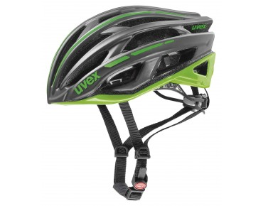uvex race 5 helmet dark silver/green