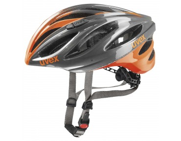 uvex boss race helmet grey/neon orange