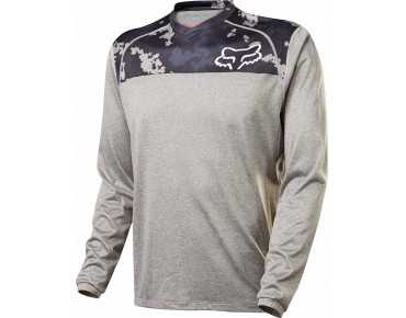 FOX INDICATOR PRINT long-sleeved cycling shirt grey camo