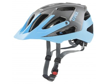 uvex quatro Fahrradhelm grey/light blue