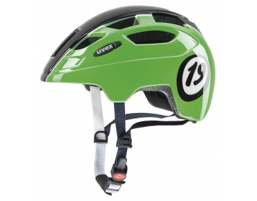 uvex FINALE JUNIOR kids' helmet black/green