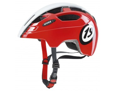 uvex FINALE JUNIOR kids' helmet red/white