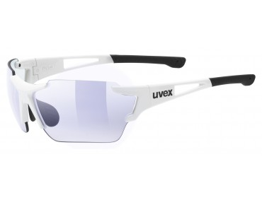 uvex SPORTSTYLE 803 RACE VM glasses white/variomatic litemirror blue