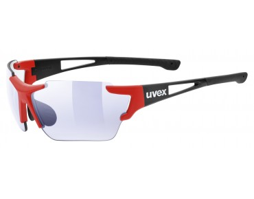 uvex SPORTSTYLE 803 RACE VM glasses black-red mat/variomatic litemirror blue