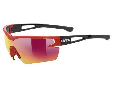 uvex SPORTSTYLE 116 sports glasses set red-black mat/mirror  red