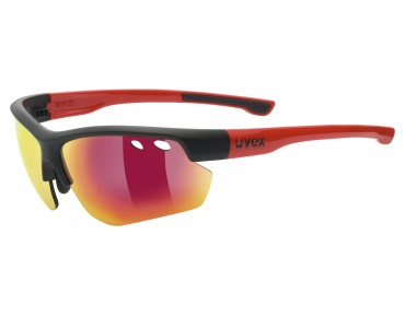 uvex SPORTSTYLE 115 sports glasses set black mat-red/mirror red