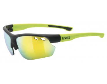 uvex SPORTSTYLE 115 sports glasses set black mat-yellow/mirror yellow