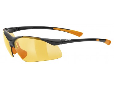 uvex SPORTSTYLE 223 sports glasses black-orange/lite mirror orange