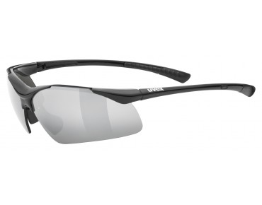 uvex SPORTSTYLE 223 sports glasses black/litemirror silver