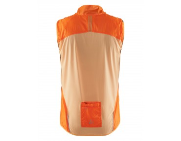 CRAFT FEATHERLIGHT windproof vest fluo orange/black