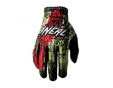 O´NEAL MATRIX full finger gloves VANDAL green/red