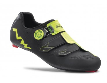 NORTHWAVE PHANTOM CARBON road shoes black/yellow fluo