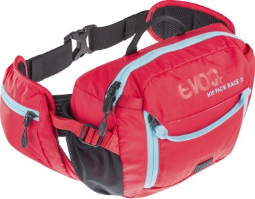 evoc HIP PACK 3L incl. 1,5 l hydration bladder red/neonblue