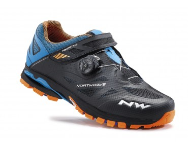 NORTHWAVE SPIDER PLUS 2 MTB/trekking shoes black/blue/orange