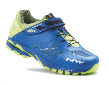 NORTHWAVE SPIDER 2 MTB/trekking shoes blue/yellow fluo