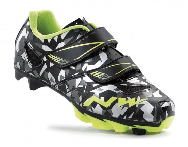 NORTHWAVE HAMMER JUNIOR Kinder MTB-Schuhe camo/yellow
