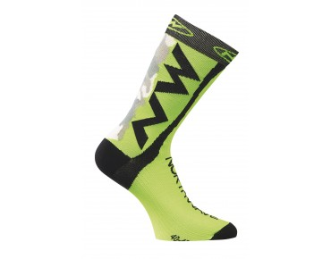 NORTHWAVE EXTREME TECH PLUS socks camo/green fluo