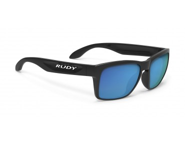 RUDY PROJECT SPINAHAWK SLIM sports glasses black gloss/multilaser blue