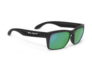 RUDY PROJECT SPINAHAWK SLIM sports glasses black gloss/multilaser green
