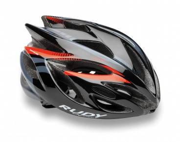 RUDY PROJECT RUSH helmet black/red fluo shiny