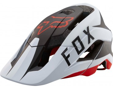 FOX METAH Helm FLOW white/black/red