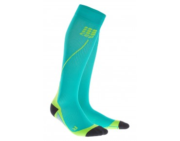 cep RUN 2.0 compression socks lagoon/lime