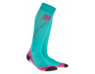 cep RUN 2.0 women's compression socks lagoon/pink