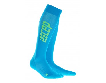 cep RUN ULTRALIGHT compression socks electric blue/green