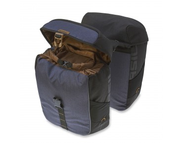BASIL MILES DOUBLE BAG panniers (waterproof) black slate