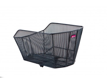 Unix VITARIO rear bicycle basket for permanent installation black