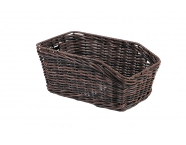 Unix MORINO rear bicycle basket for permanent installation brown