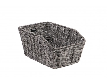 Unix MORINO rear bicycle basket for permanent installation reed grey