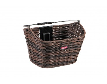 Unix MANOLO front bicycle basket brown