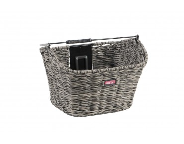Unix MANOLO front bicycle basket reed grey