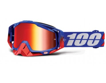 100% RACECRAFT goggles REPUBLIC/mirror red