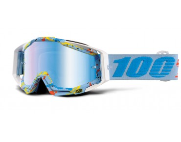 100% RACECRAFT goggles HYPERLOOP/ mirror blue