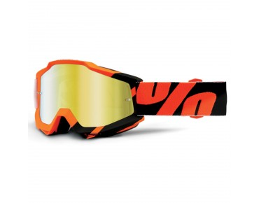 100% ACCURI MIRROR Goggle WILDBLAST/mirror gold
